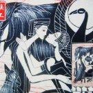 chinese batik art mural painting, wall hanging-Reunion after long separation