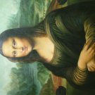 The smile of  Mona Lisa -oil painting