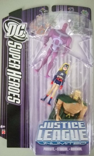 DC SuperHeroes Justice League Unlimited - Parasite, Stargirl and Aquaman Action Figure 3-Pack