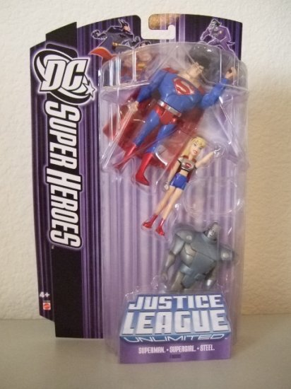 DC SuperHeroes: Justice League Unlimited > Superman Supergirl and Steel Action Figure 3-Pack