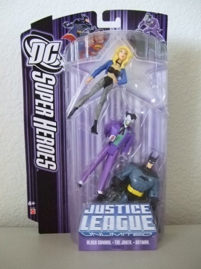 DC SuperHeroes: Justice League Unlimited > Black Canary Joker and Batman Action Figure 3-Pack