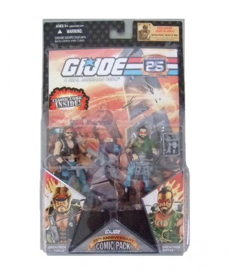 GI Joe 25th Anniversary Comic Pack - Torch and Ripper Dreadnok Action Figure 2 - Pack