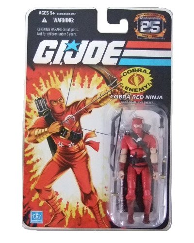 GI Joe 25th Anniversary Wave 3 - Red Ninja Action Figure