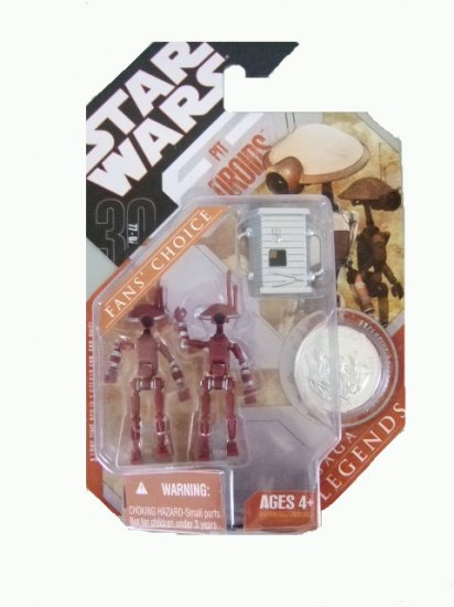 Star Wars 30th Anniversary Saga Legends - Red Pit Droids Action Figure 2-Pack