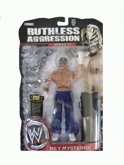 WWE Ruthless Aggression Series 33 - Rey Mysterio Action Figure Ring Rage