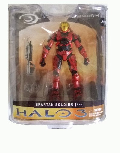 McFarlane Halo 3 Series 1 - Red Spartan Soldier EVA Action Figure XBOX 360
