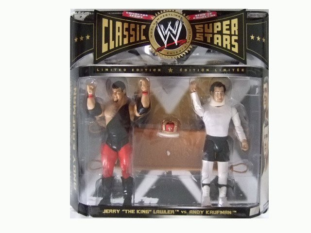 WWE Classic Superstars Limited Edition - Jerry Lawler and Andy Kaufman Action Figure 2-Pack