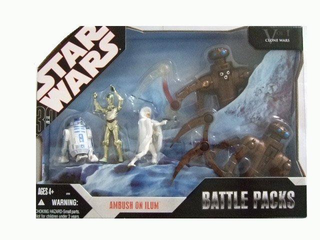 Star Wars 30th Anniversary Battle Pack - Ambush on Ilum (Distressed Packaging) Action Figure Set