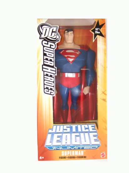 """DC SuperHeroes Justice League - 10"""" Inch Superman(Silver and Red) Action Figure"""