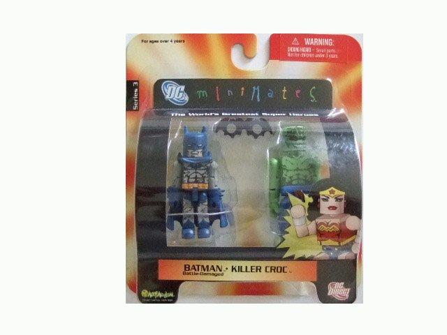DC Mini Mates Series 2 - Batman and Killer Croc Action Figure 2-Pack