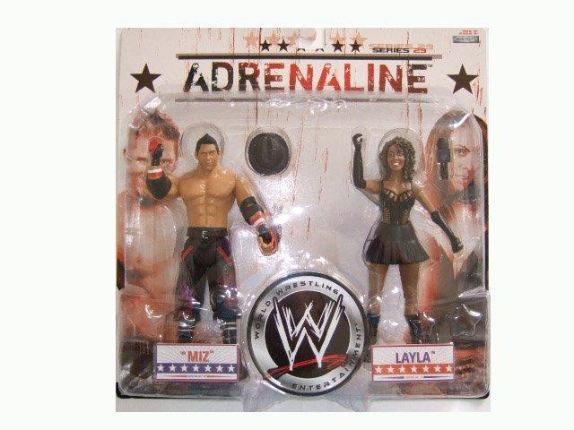 WWE Adrenaline 29 - The Miz & Layla Action Figure 2-Pack
