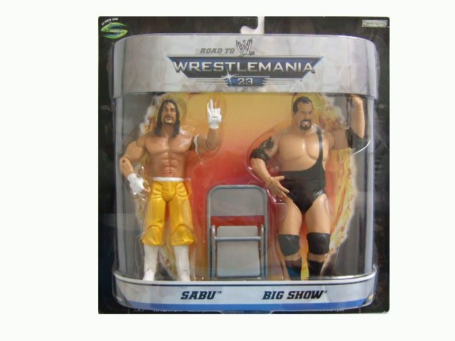WWE Road to Wrestlemania 23 - Sabu & Big Show Action Figure 2-Pack