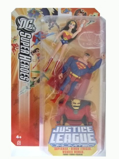 DC SuperHeroes:Justice League Unlimited - Wonder Woman. Superman and Etrigan Action Figure 3-Pack