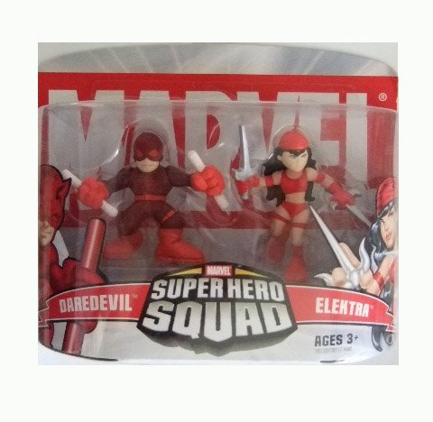 Marvel Superhero Squad - Daredevil and Elektra Action Figure 2-pack