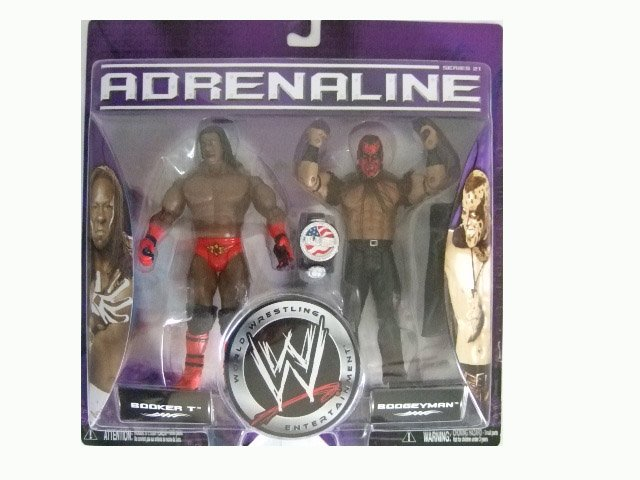 WWE Adrenaline 21 - Booker T and Boogeyman Action Figure 2-Pack