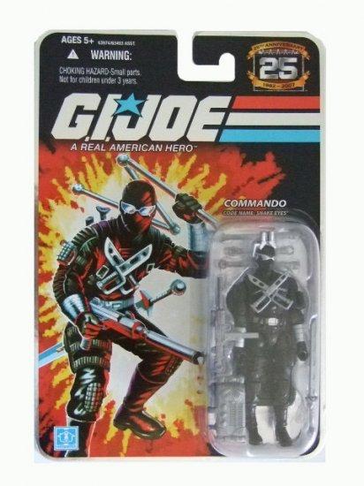 GI Joe 25th Anniversary Wave 7 - Commando Snake Eyes Action Figure