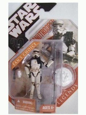 Star Wars 30th Anniversary Saga Legends - Sandtrooper (Dirty, Grey) Action Figure