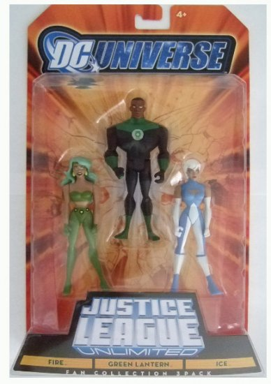 DC Universe: Justice League Unlimited - Fire, Ice & Green Lantern Action Figure 3-Pack