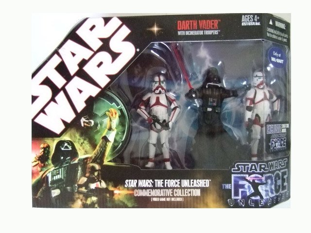 Star Wars 30th Anniversary Force Unleashed - Darth Vader with Incinerator Troopers Action Figure Set