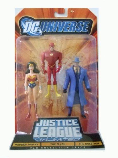 DC Universe: Justice League Unlimited - Wonder Woman, Flash & The Question Action Figure 3-Pack