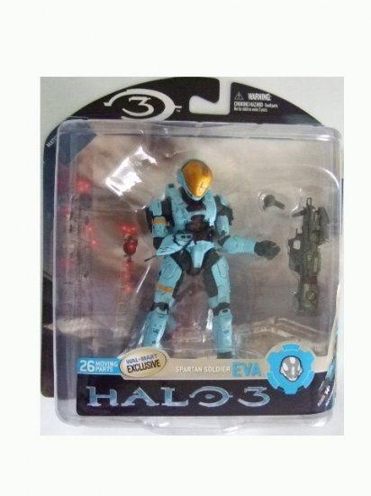 Mcfarlane Halo 3 Series 3 Exclusive - Cyan Spartan Soldier EVA Action Figure