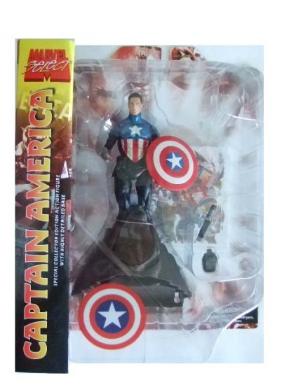 Marvel Select - Captain America (Unmasked) Variant Action Figure