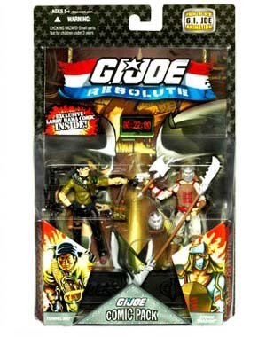GI Joe 25th Anniversary Comic Pack Wave 8 - Tunnel Rat and Storm Shadow Action Figure 2 - Pack