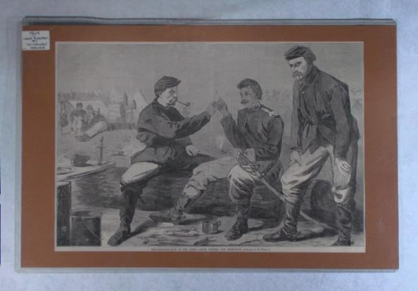 1864 Cival War Winslow Homer Wood  Engraved Army Print