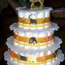 ZOO ANIMALS 3 TIER DIAPER CAKE