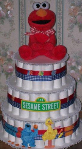 Sesamee Street 3 Tier Diaper cake