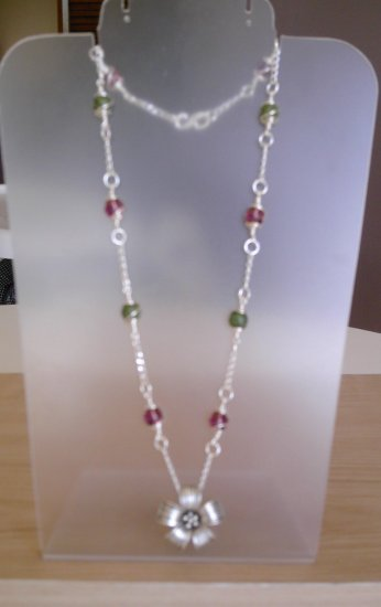 Hill tribe flower necklace