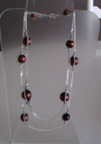 Dark wood necklace