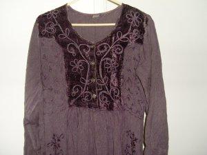 Embroidered unique purple dress