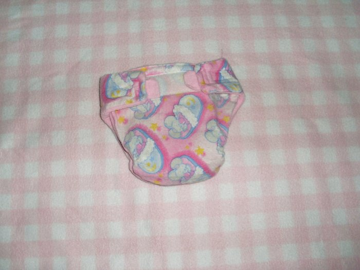 AIO diaper, size Medium pink cloth diaper