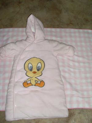 Baby hooded bunting clod weather wear girl newborn-9 months 0-9