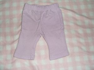 Baby girl purple polka dot pants 0-3 months Just One Year