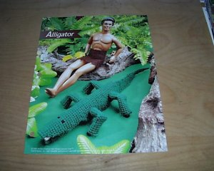 FASHION DOLL ALLIGATOR PLASTIC CANVAS PATTERN