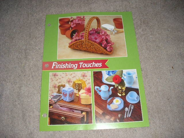 FASHION DOLL FINISHING TOUCHES PLASTIC CANVAS PATTERN