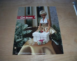 FASHION DOLL GIFT BOXES PLASTIC CANVAS PATTERN