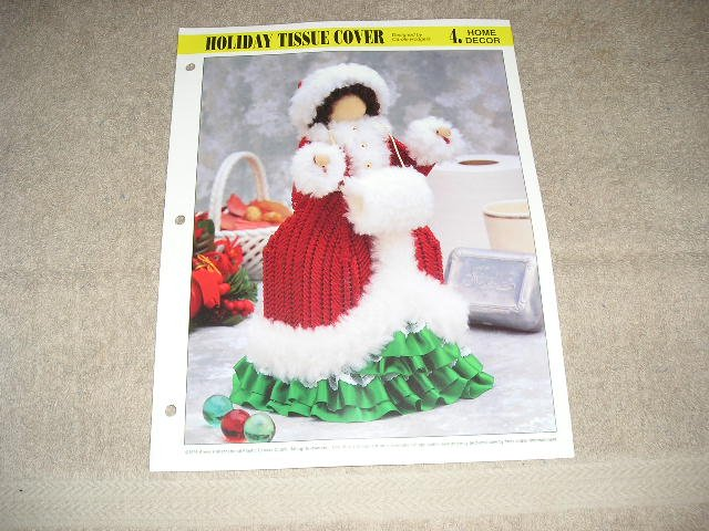 HOME DECOR - Holiday Tissue Cover Plastic Canvas Pattern