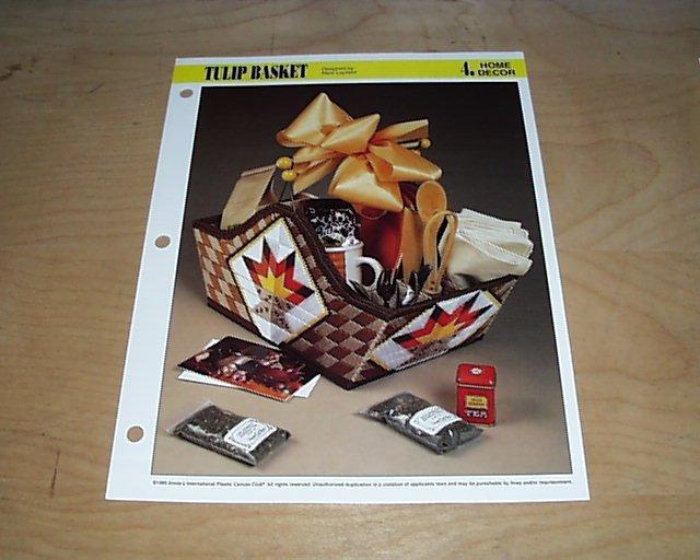 HOME DECOR - Tulip Basket Plastic Canvas Pattern