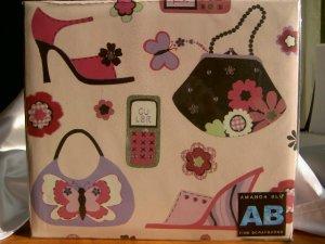 12x12 Amanda Blu Scrapbook Photo Album Diva, Shoes, Purses, New