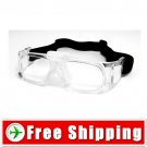 Outdoor Sports Safety Glasses Goggles Transparent Frame FREE Shipping