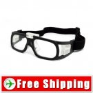 Sports Outdoor Safety Glasses Goggles - Elastic Strap Black