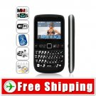 Unlocked TV Dual-SIM QWERTY Cellphone Mobile Phone WiFi