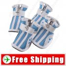 2 Pairs Protective Soccer Boot Shoes - Zipper for Pets Dogs