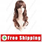Synthetic Capless Natural Long Wavy Curly Wig Hairpiece
