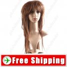 Stylish Women Wigs Long Straight Hair Synthetic - Fringe Bang