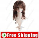 Charming Long Synthetic Hair - Tilted Bang Curl Wig Hairpiece
