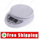 5000g x 1g LCD Digital Chef Kitchen Balance Weight Counting Scale
